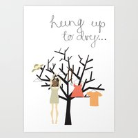 Hung up to dry... Art Print