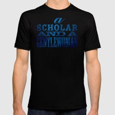 A Scholar and a Gentlewoman SMALL Mens Fitted Tee Black