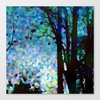 Blue Raspberry Jellybean Skies Canvas Print