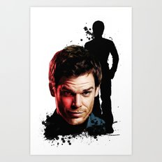 Monster Madness: Dexter Morgan  Art Print