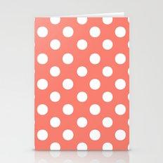 Polka Dots (White/Salmon) Stationery Cards