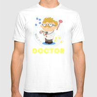 Doctor Mens Fitted Tee White SMALL