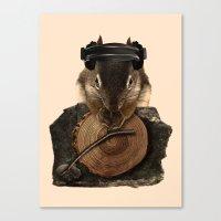 Squirrel DJ Canvas Print