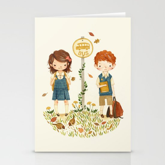 Back to School Stationery Card