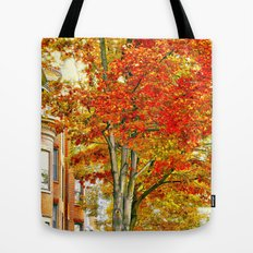 South End. Fall in Boston, MA.  Tote Bag