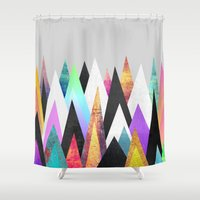 Colorful Peaks Shower Curtain