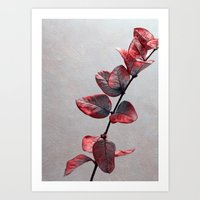 red leafs Art Print