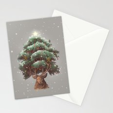 Reindeer Tree Stationery Cards