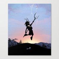 Loki Kid Canvas Print