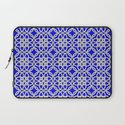 Lacey Pattern, White/Blue Laptop Sleeve
