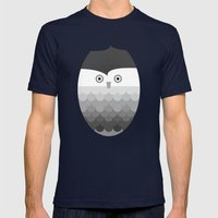 Owl Mens Fitted Tee Navy SMALL