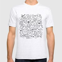 Sweet Pattern Mens Fitted Tee Ash Grey SMALL