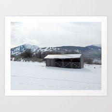 Snow Zen Art Print