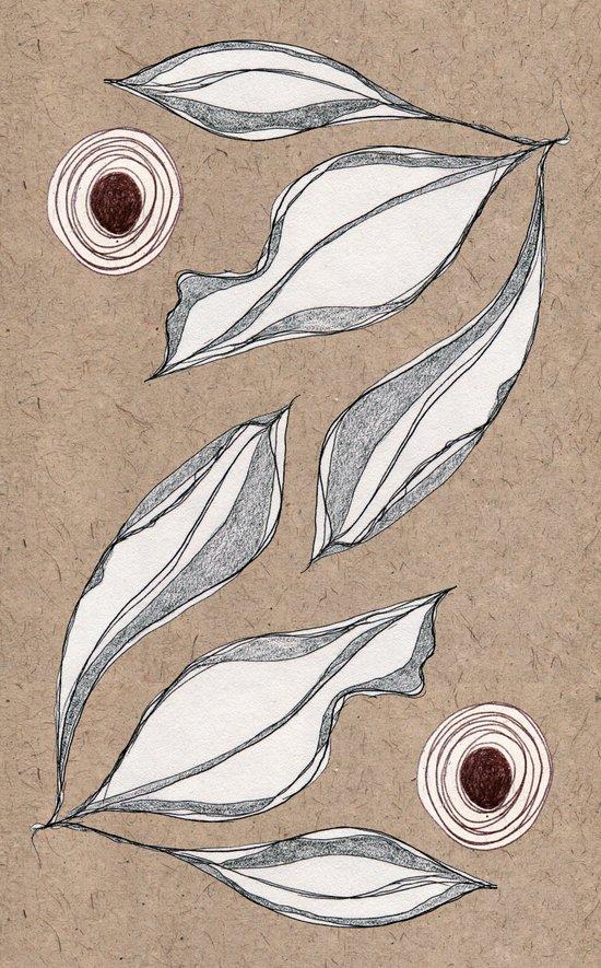 Sketch Leaves Art Print