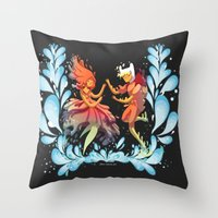 Flame Princess In Love Throw Pillow