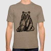 Bear - Ours  Mens Fitted Tee Tri-Coffee SMALL