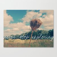 Never Stop Exploring II Canvas Print