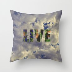 Live! Throw Pillow