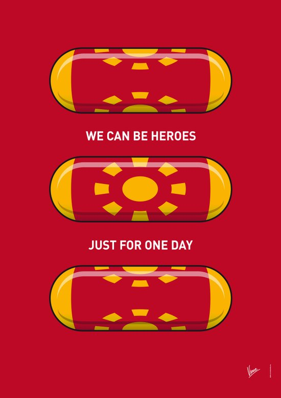 My SUPERHERO PILLS - Iron Man Art Print