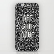 Get Shit Done Memphis Static iPhone & iPod Skin