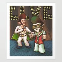 ELVES! Art Print