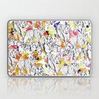 Tiger Floral Laptop & iPad Skin
