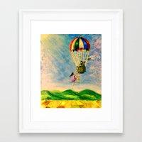 BALLOON LOVE: Flying Awa… Framed Art Print
