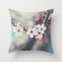 Cherry-tree Throw Pillow
