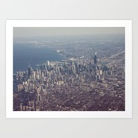 Chicago From The Sky Col… Art Print