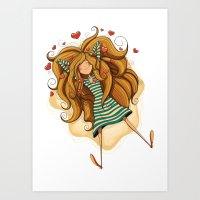 Amorousness Art Print