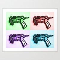 Ray Gun A Art Print