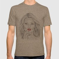 Kate Moss Mens Fitted Tee Tri-Coffee SMALL