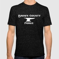 Brown County Forge Simple Logo Mens Fitted Tee Tri-Black SMALL