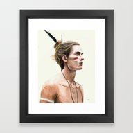 Framed Art Print featuring The Warrior by Carlos-ARL
