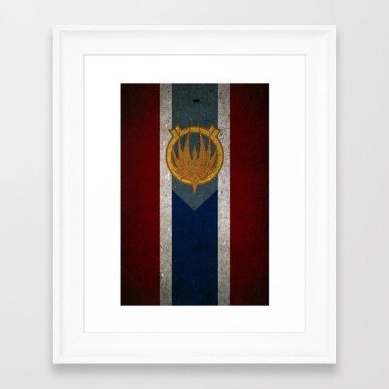 The Banner of Caprica Framed Art Print