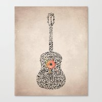 Guitar Notes Canvas Print