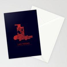 Las Vegas Map Stationery Cards