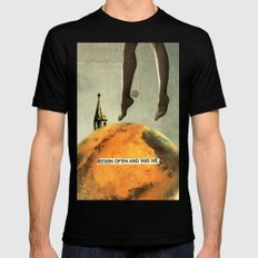 return often and take me Mens Fitted Tee Black SMALL