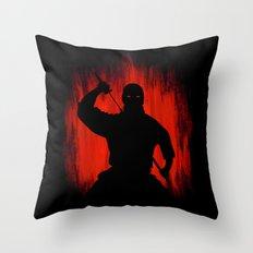 Ninja / Samurai Warrior Throw Pillow