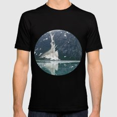 alaskan ice. SMALL Black Mens Fitted Tee