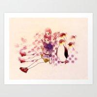 Penguin Playtime Art Print