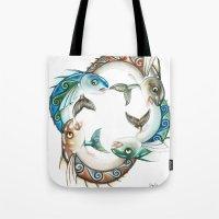 INKYFISH - Fish Circle #3 Tote Bag