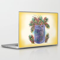 feathers Laptop & iPad Skins featuring Feathers by famenxt