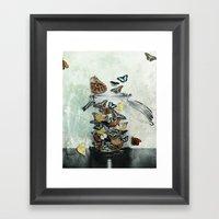 Butterfly Jar Framed Art Print