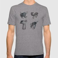 Creatures Of The Night Mens Fitted Tee Athletic Grey SMALL