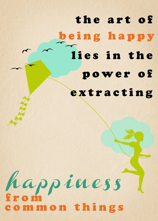 the art of being happy Canvas Print