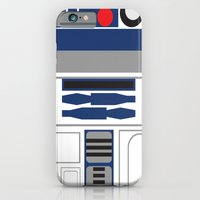 iPhone Cases featuring Star Wars - R2D2  by Adrian Mentus