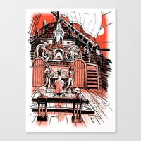 Sea Of Red: Judgement Canvas Print