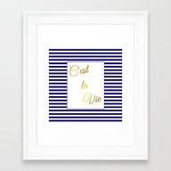 C'est La Vie Framed Art Print