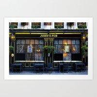 John's Pub Art Print